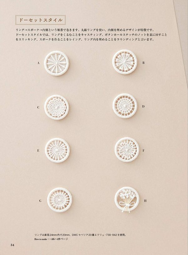 A Book about Thread Buttons[Japanese craft]