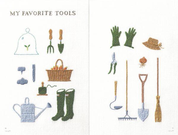 Kazuko Aoki Embroidered Kitchen Garden - Japanese Craft Book