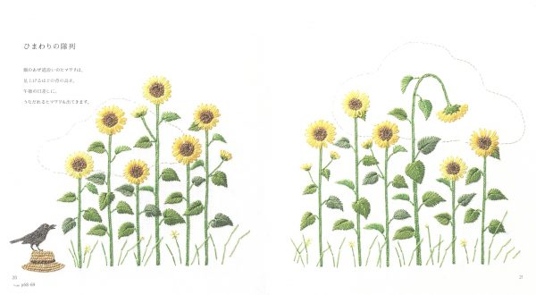 Kazuko Aoki Embroidered Wild Flowers - Japanese Craft Book